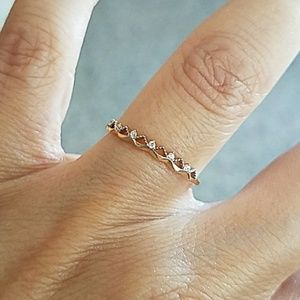 Jewelry - Dainty 14k Yellow Gold Promise Ring Wedding Band